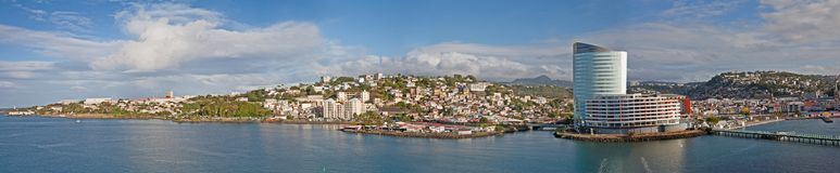 Панорама Martinque стоковые изображения