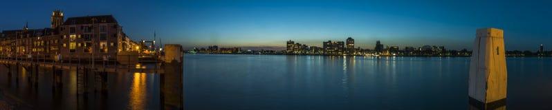 Панорама Merwede на Dordrecht Стоковое Изображение RF