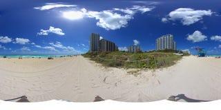 панорама miami пляжа стоковое изображение rf