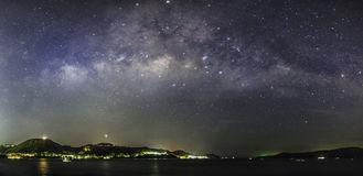 Панорама Milky путя Стоковое Фото