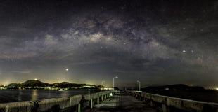 Панорама Milky путя Стоковые Фотографии RF