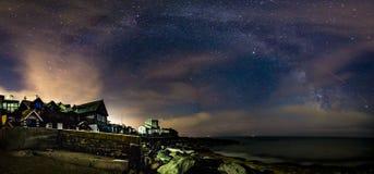 Панорама Milky путя Стоковые Изображения RF