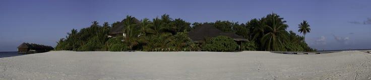 панорама mirihi Мальдивов острова тропическая Стоковые Фотографии RF