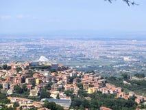 Панорама Monte Porzio Catone в Castelli Romani Стоковое фото RF