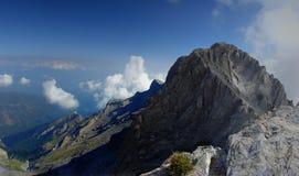 Панорама Греция приключения национального парка Mount Olympus взбираясь открывать стоковая фотография rf