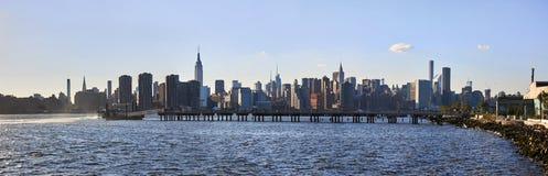 Панорама NYC Манхаттана Стоковая Фотография RF