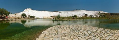 панорама pamukkale стоковые фотографии rf