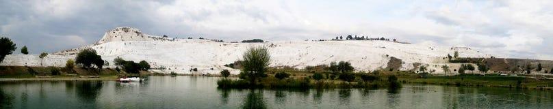 Панорама Pamukkale Стоковая Фотография