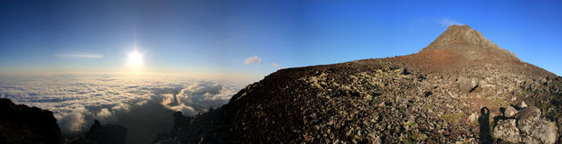 Панорама Pico Sunrize стоковые фотографии rf