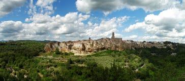 Панорама Pitigliano Стоковое Фото