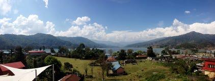 Панорама Pokhara, Непала Стоковая Фотография RF