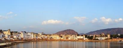 панорама pushkar Раджастхан Индии Стоковое фото RF