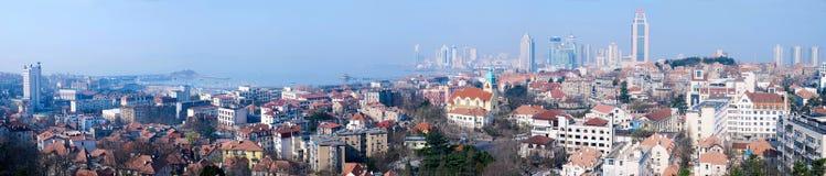панорама qingdao города старая Стоковая Фотография