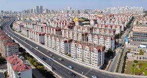 панорама qingdao города фарфора стоковые фото
