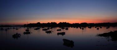Панорама Sailing гаван Стоковые Фотографии RF