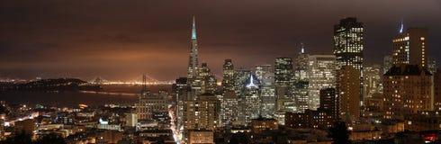панорама san ночи francisco Стоковое Изображение RF