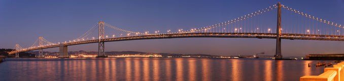 панорама san francisco моста залива Стоковое Фото