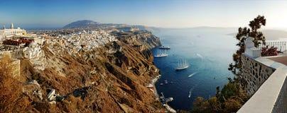 Панорама Santorini Стоковые Изображения