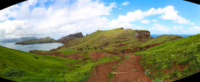 Панорама Sao Lourenco, Мадейры Стоковые Фотографии RF