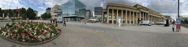 Панорама Schlossplatz, Штутгарт Стоковая Фотография RF