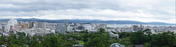 Панорама Shinji Matsue и озера стоковые фото