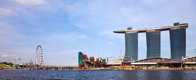 панорама singapore Стоковые Фото