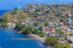 Панорама St Винсента, карибская Стоковое Фото