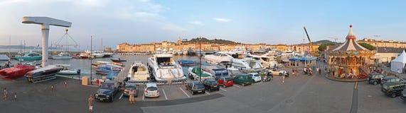 Панорама St Tropez Стоковые Фотографии RF