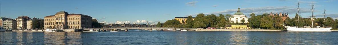 панорама stockholm Стоковое Изображение