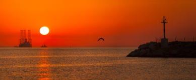 Панорама Sunrising стоковое фото rf