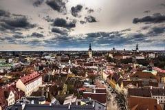 панорама tallinn эстонии стоковое фото rf
