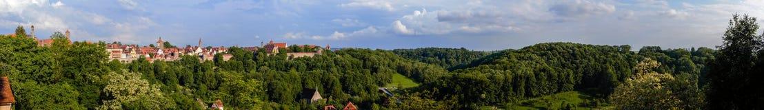 Панорама Taube der ob Ротенбурга Стоковое фото RF