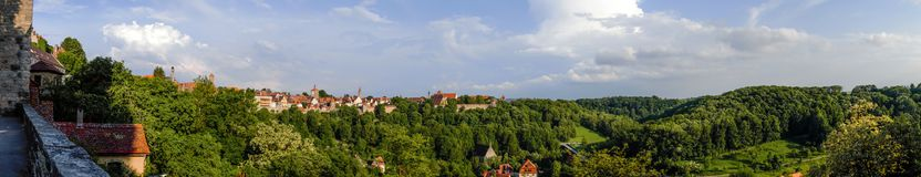 Панорама Taube der ob Ротенбурга Стоковые Фотографии RF