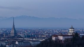 Панорама timelapse Турина (Турина) HD акции видеоматериалы
