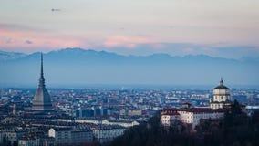 Панорама timelapse Турина (Турина) HD сток-видео