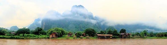 Vang Vieng, Лаос Стоковые Изображения RF