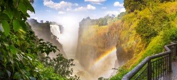 Панорама Victoria Falls Африки Стоковое Фото