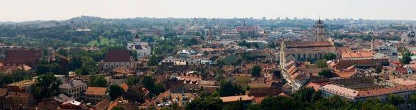 панорама vilnius Стоковое фото RF
