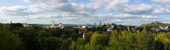 панорама vilnius Стоковые Фото