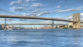 панорама york brooklyn моста новая Стоковые Фотографии RF