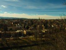 панорама zagreb Хорватии города капитолия Стоковое Изображение