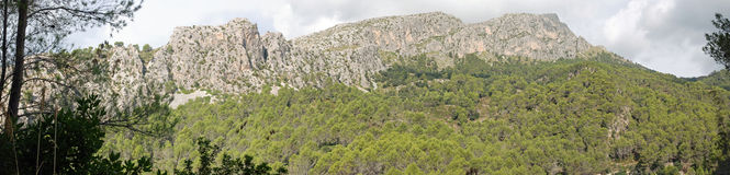 Панорамная гора Стоковые Фотографии RF