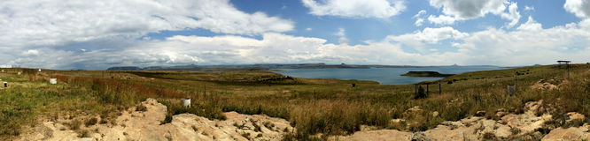 Панорамная запруда Южная Африка Sterkfontein Стоковые Фото