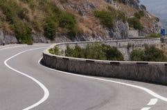 Панорамная кривая дороги по побережью Maratea Стоковые Изображения