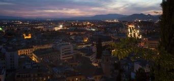 Панорамная ноча Гранада Стоковые Изображения RF