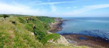 Панорамная прибрежная область северного Йоркшира, Англии Стоковые Фото