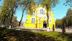 Панорамная стрельба собора ` s St Владимира в Киеве видеоматериал