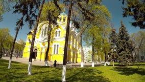 Панорамная стрельба церков в парке Киева акции видеоматериалы