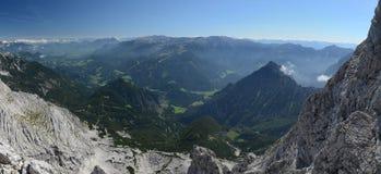 Долина горы, Totes Gebirge, альп Стоковое фото RF