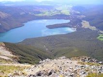 Панорамное озеро Rotoiti Стоковые Изображения RF